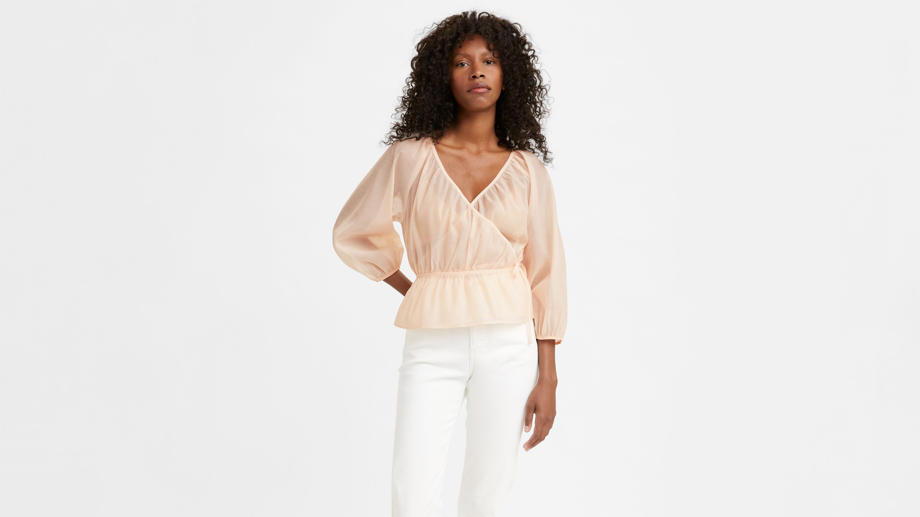 Levi`s DELILAH WRAP TOP SCALLOP SHELL
