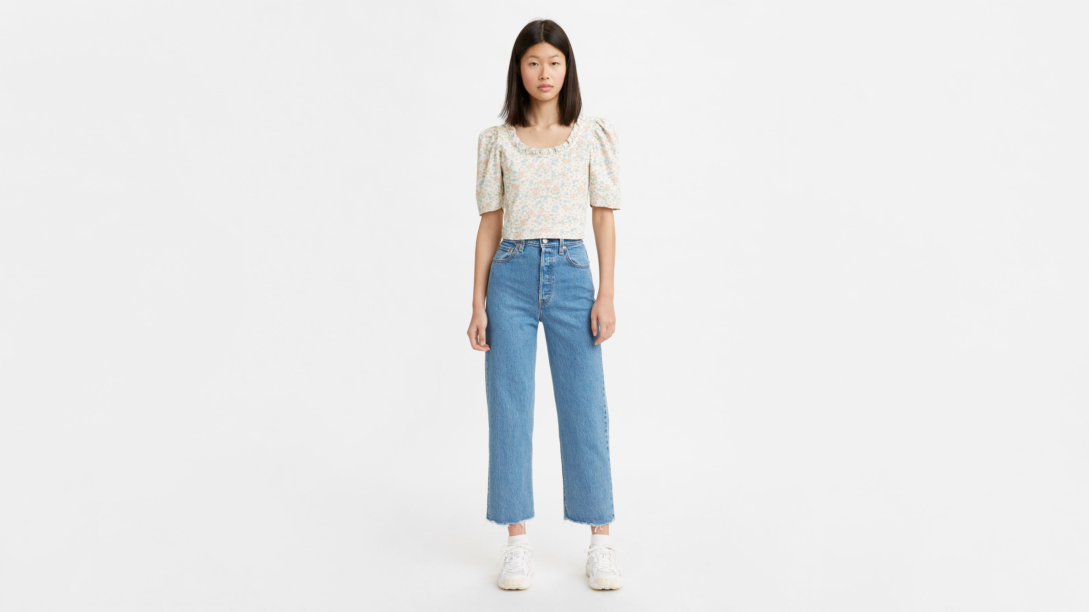 Levi`s Ribcage Straight Ankle Jeans