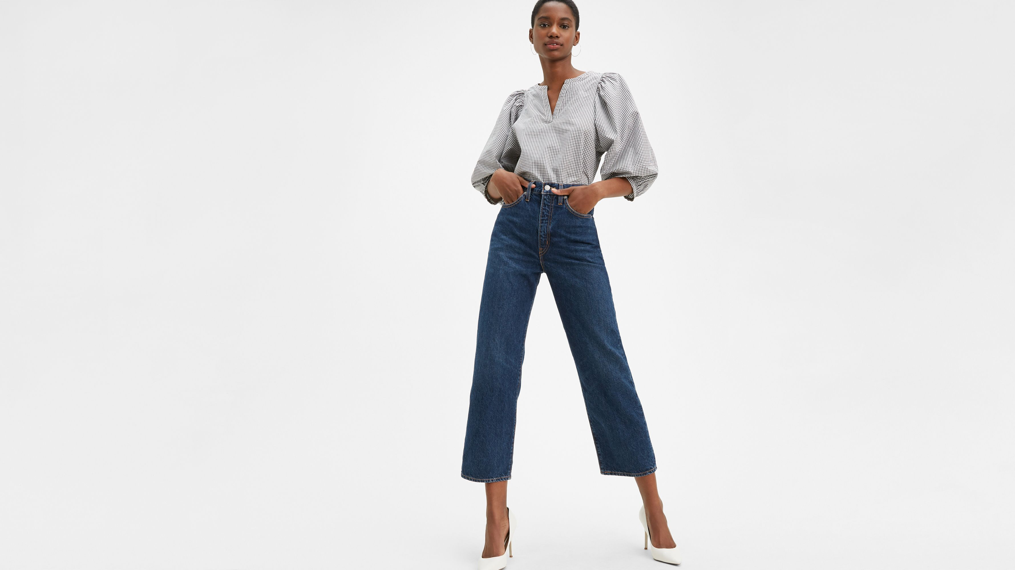 Levi`s Levi's® WellThread™ Ribcage Straight Ankle Jeans