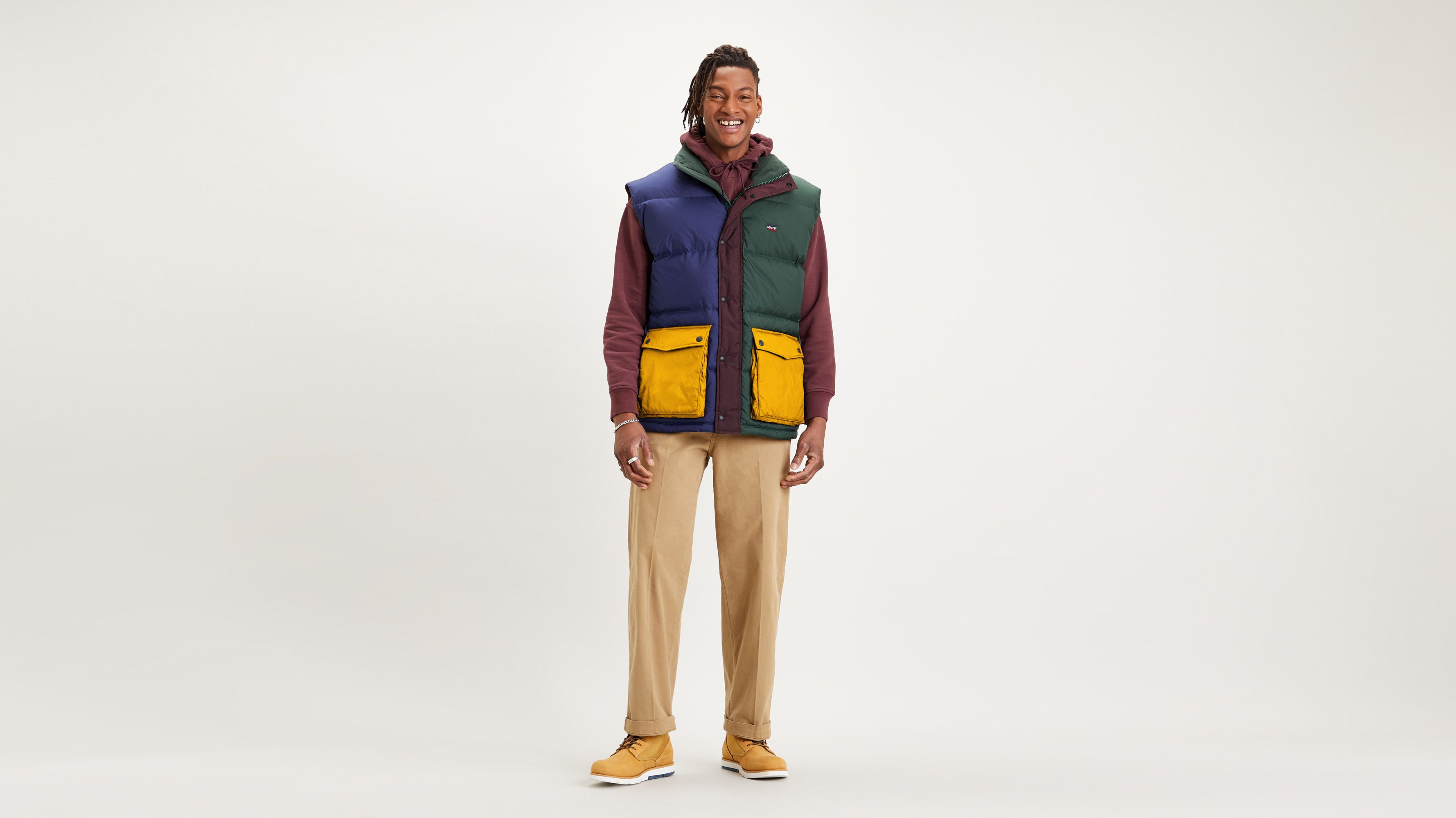 Levi`s STAY LOOSE FILMORE VEST MULTI COLOR BLO