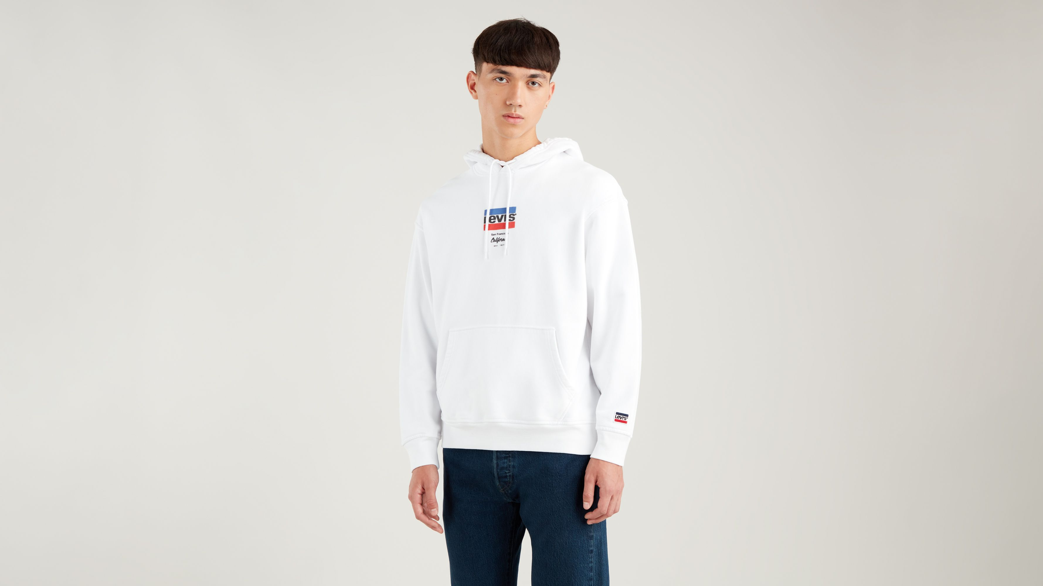 levi s graphic sport hoodie Levi`s Relaxed Graphic Hoodie