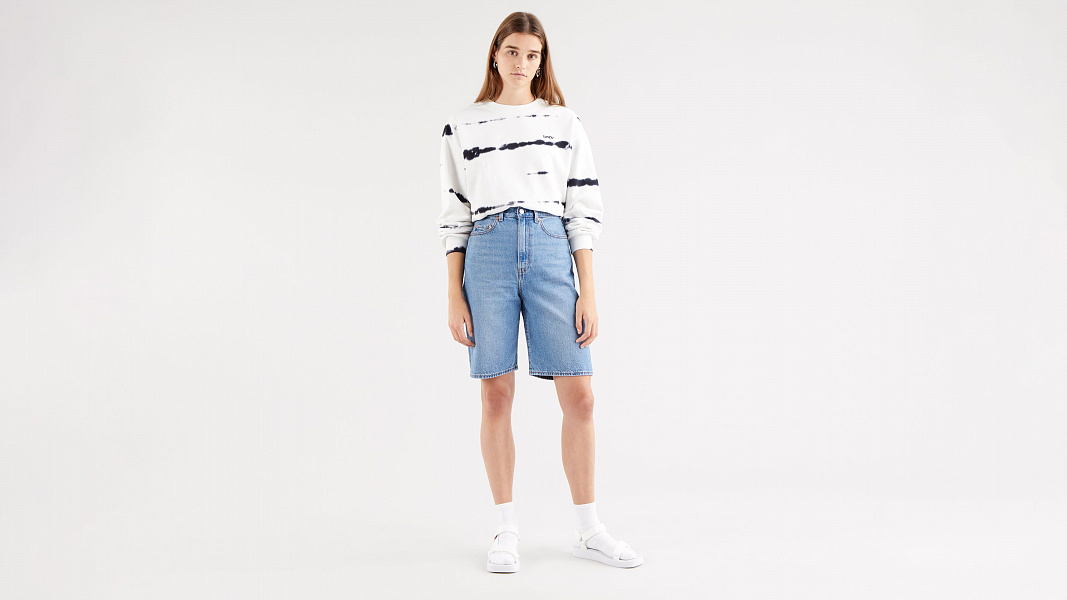 High Loose Bermuda Shorts