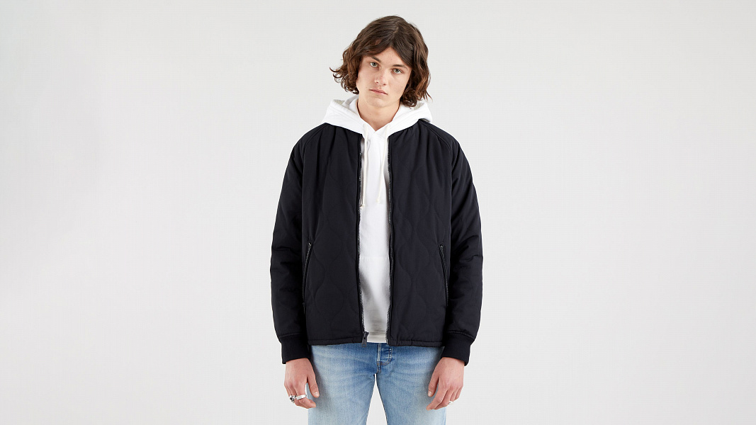 Hyde Quilted Bomber Jacket