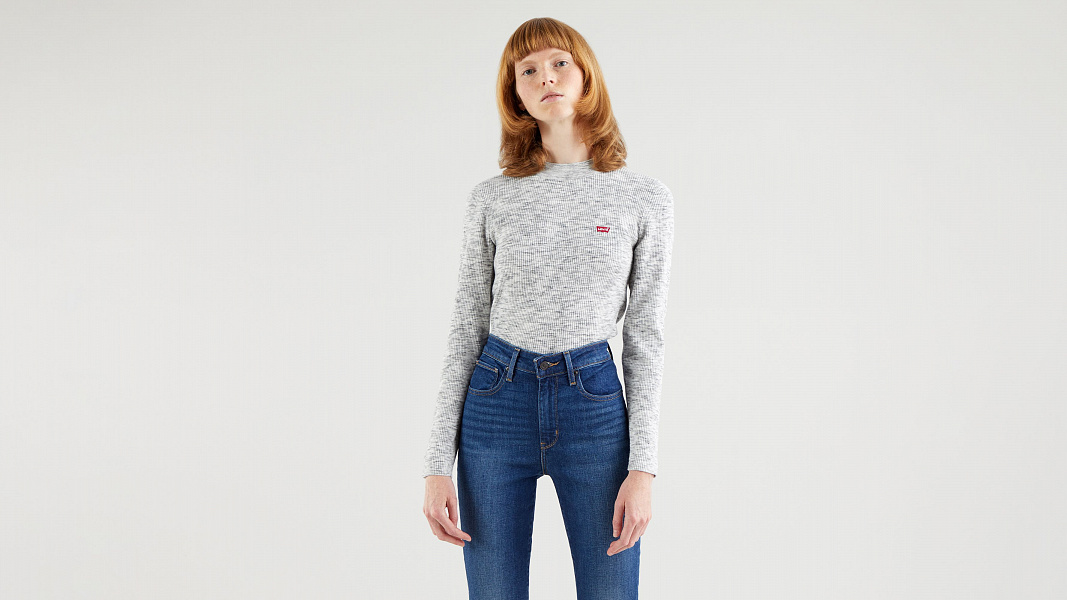 Crew Neck Rib Sweater