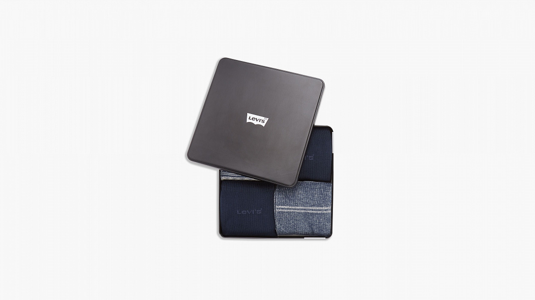 Levi's Regular Cut Socks - 4 Pairs Giftbox