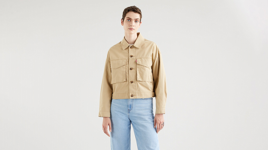 Loose Utility Trucker Jacket